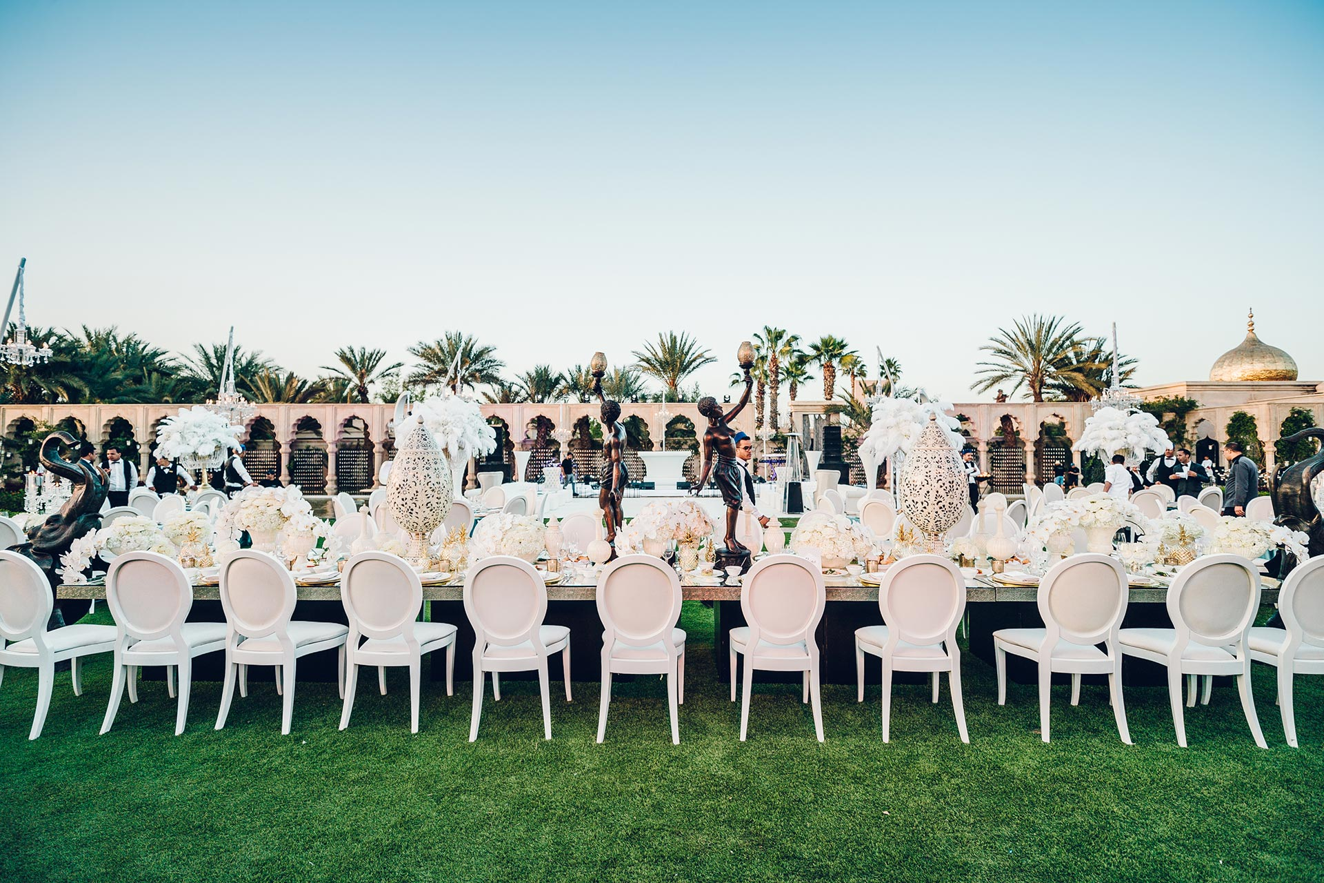 The Great Gatsby wedding with a Moroccan touch